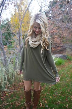 Softie Tunic - Olive