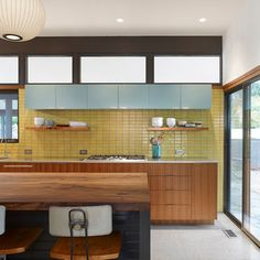 Balcones Mid-Century - midcentury - Kitchen - Austin - Rick & Cindy Black Architects