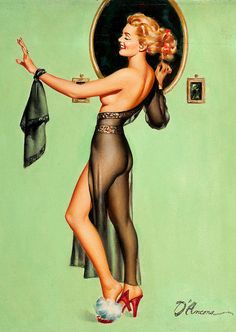 Edward D'Ancona was a prolific pin-up artist who produced his paintings from the mid 1930's through the 1950's.