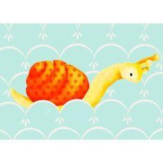 Oopsy Daisy - Gypsy the Sea Snail Canvas Wall Art 14x10, Meghann O'Hara