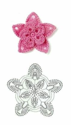 9 Patrones de Flores al Crochet - DIY Crochet Diy, Crochet Motifs, Crochet Diagram, Thread Crochet, Love Crochet, Crochet Crafts, Crochet Projects, Crochet Stitches, Crochet Doilies