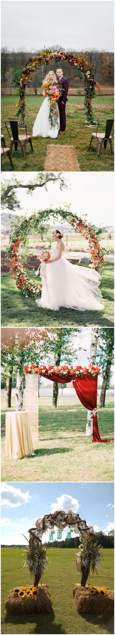 40 Outdoor Fall Wedding Arch and Altar Ideas /   http://www.himisspuff.com/fall-wedding-arch-and-altar-ideas/