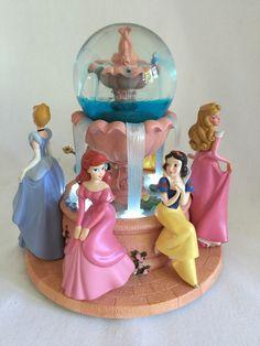Disney Princess Snowglobe RARE Musical Wishing Fountain Retired | eBay