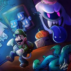 Luigi's Mansion 3 for this Halloween! by on DeviantArt Luigi Mansion, Luigi's Mansion 3, Nintendo World, Nintendo Games, Luigi's Mansion Dark Moon, King Boo, Castle Tattoo, Super Mario Art, Super Mario Brothers