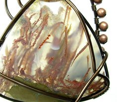 Dawn Blair Jewelry  Priday Moss Agate pendant
