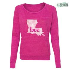 NEW  Love Pullover in Pink by HeyPenelopeDesign on Etsy, $26.00
