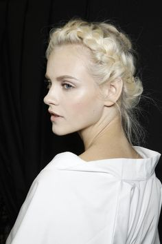 Valentino at Paris Fashion Week Spring 2012 braid hairstyle 18
