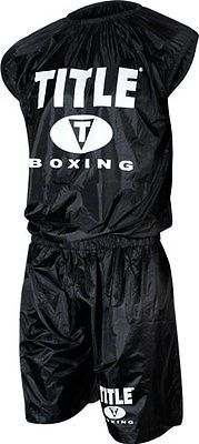 Sauna Suits 179812  Title Boxing Weight Sweat Sauna Suit Mma Wrestling  Equipment Workout Gear BUY 881354d53