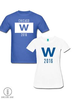 5f949a54d33 Items similar to Chicago Cubs Fly the W T Shirt - Men's and Women's Cubs  World Series Shirt Multiple Colors and Designs on Etsy