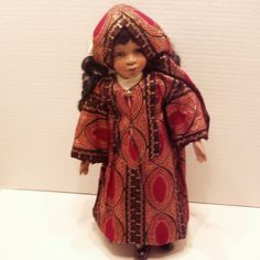 CAFTAN and HEADWRAP for the ADDY Doll by HolidaysAtHome on Etsy, $25.00
