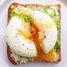 Egg On Toast With Avocado And Fresh Goat Cheese