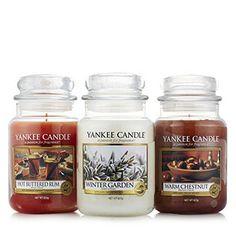 Yankee Candle Winter Set of 3 Large Jars