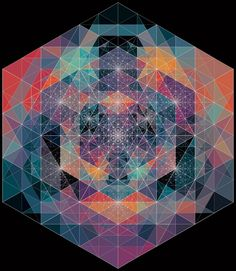 Triangles within triangles.