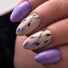 In seek out some nail styles and some ideas for your nails? Listed here is our set of must-try coffin acrylic nails for modern women. Best Nail Art Designs, Beautiful Nail Designs, Beautiful Nail Art, Gorgeous Nails, Floral Nail Art, Nail Art Diy, Trendy Nails, Cute Nails, Lavender Nails
