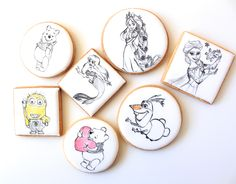 character paint icing cookies