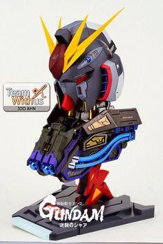 1/35 Nu Gundam Bust - Painted Build w/ LED