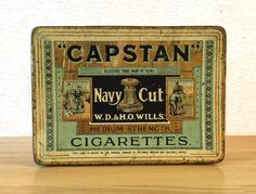 Vintage Capstan Navy Cut Cigarette Tin / by RedRavenCollectibles