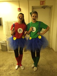 Mario and Luigi Halloween costume for group of two!
