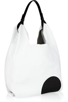 Jil Sander | Circle textured-leather hobo bag ~ Hmmm, what are the chances I could keep this clean while traveling all the time?!