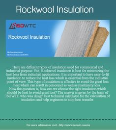 Rockwool Insulation Calculation Calculator Software - ISOWTC : Now you can easily get to know with ISOWTC Rockwool Insulation Software website - http://www.isowtc.com/en or http://pay.isowtc.com | isowtc