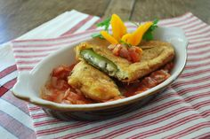 Chile Rellenos, gluten free by Pamela's products. You won't believe these (or any of the things you make from her products) are gluten free!