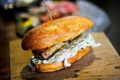 Foie gras truffle burger at Le Comptoir Gascon  #foiegras #French #food #restaurant #London #burger #truffle #dine #eat #bread #meat   http://www.squaremeal.co.uk/restaurant/le-comptoir-gascon