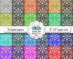 MEDIEVAL ORNAMENT Digital paper pack  Instant by DigitalBay