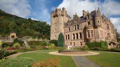 Belfast Castle  Belfast Castle estate is situated on the lower slopes of Cave Hill Country Park in north Belfast. It contains both parkland and mature mixed woodland and offers superb views of the city from a variety of vantage points.