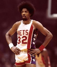 """Back-up Small Forward: They called him """"Dr."""" because he would operate on other players. The original guy with a game based in the air instead of the ground, Julius Irving was indeed not only the ABA but also revitalized the NBA. Unfortunately, without a 3-point line back then, only one title to his credit and lack of any talked about defensive skills, the past (despite its great nostalgia in the form of the coolest afro ever) has to be relegated to the bench behind a far more versatile player."""