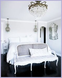 french, white, linen bedroom suite