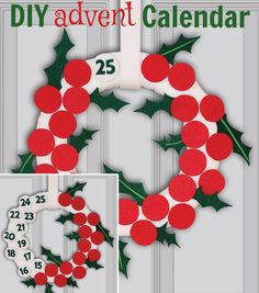 Countdown to Christmas with this DIY Advent Calendar! Click through to find full directions on Joann.com