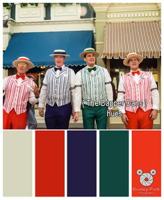 Here are the colors hues of The Dapper Dans at The Magic Kingdom in Walt Disney World.