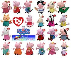 Ty Peppa Pig and Friends Beanies and Buddies - Soft Plush Teddy Toys in Toys & Games, TV & Film Character Toys, TV Characters | eBay
