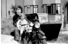 Brian on His dads Motorcycle combo with Peter. I think the bike was a Panther