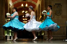 Vivienne of Holloway bride and bridesmaid  vintage style dresses. By toast of Leeds