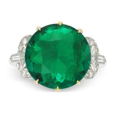 Extremely Fine Emerald and Diamond Ring, 5.00 carats