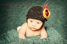 Newborn Chin Strap Helmet hat photo prop CROCHET by InnerHooker, $3.25