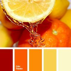 A bright palette that includes shades ranging from red-orange to pale yellow creates orange mood. The color solution in orange and yellow shades brings warmth to any room. Brightness of the shades is not aggressive yet energizing like citrus fruits.