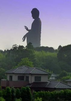 "The huge statue ""Ushiku Daibutsu"" is located in Japan's Ibaraki prefecture north of Tokyo and represents the Amitabha Buddha."