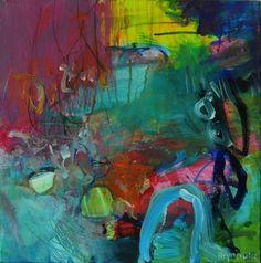 A piece of world, 40x40cm acrylic on canvas 2015 Anna Hryniewicz