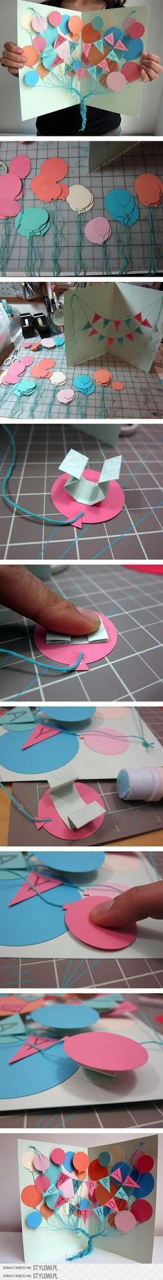 Awesome DIY Birthday Card - A Creative, Meaningful and Cheap DIY Gift for Friend. Awesome DIY Birthday Card - A Creative, Meaningful and Cheap DIY Gift for Friends and Family. Fun Crafts, Diy And Crafts, Crafts For Kids, Paper Crafts, Paper Glue, Tarjetas Diy, Crafty Craft, Diy Cards, Homemade Cards