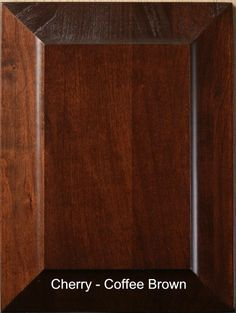 Coffee Brown Cherry Wood Finish | Our furniture is finished with one coat of stain and two coats of catalyzed varnish which resists moisture from penetrating the furniture.