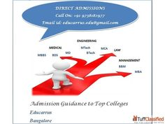 Direct #Admission in Top #Colleges of #Bangalore ( without donation #seats / #Management Quota )