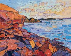 Acadia Coast - Contemporary Impressionism | Landscape Oil Paintings for Sale by Erin Hanson