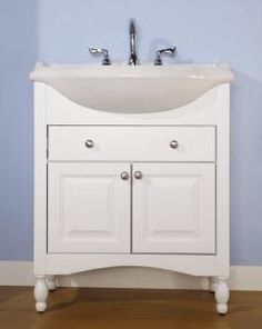 30 Inch Single Sink Narrow Depth Furniture Bathroom Vanity With Choice Of  Finish And Sink