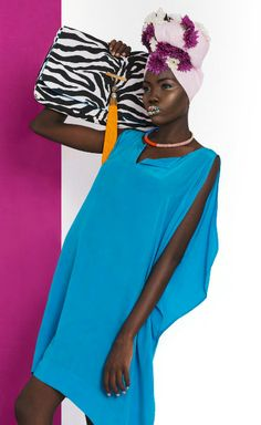 COUTURE Africa magazine fashion editorial, blue