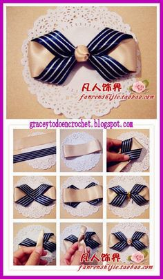 Cute hair bows for girls, for decorating gifts and to help men for this holiday season !Ties perfect for Christmas. Ribbon Hair Bows, Diy Hair Bows, Diy Bow, Diy Ribbon, Ribbon Crafts, Diy Crafts, Diy Gifts For Men, Diy For Men, Diy For Girls