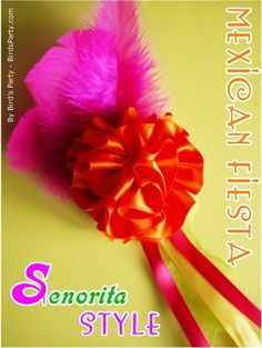 TUTORIAL: Mexican Senorita DIY Hair Accessory for your Cinco de Mayo Celebrations! Read more: http://www.blog.birdsparty.com/2011/04/tutorial-mexican-senorita-diy-hair.html