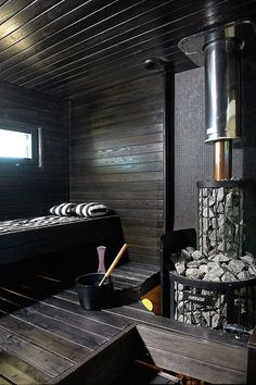 Contemporary Finnish sauna by house building company Kannustalo Saunas, Sauna Steam Room, Sauna Room, Jacuzzi, Piscina Spa, Sauna Seca, Sauna House, House Bath, Sauna Design
