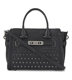 COACH Studded Leather Tote. #coach #bags #shoulder bags #hand bags #leather #tote #